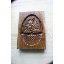 Mézeskalács ütőfa (Virágkosár, ovális)