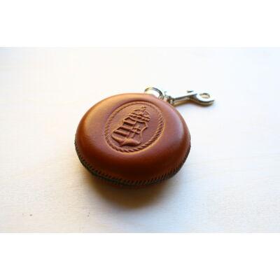 Flaska - Koronás Kossuth címer  motívummal, barna cérnával