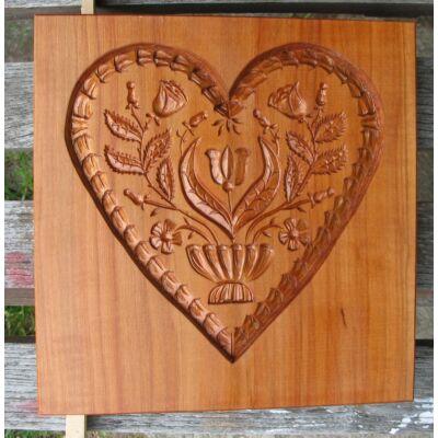 Mézeskalács ütőfa ( Szív 5 )